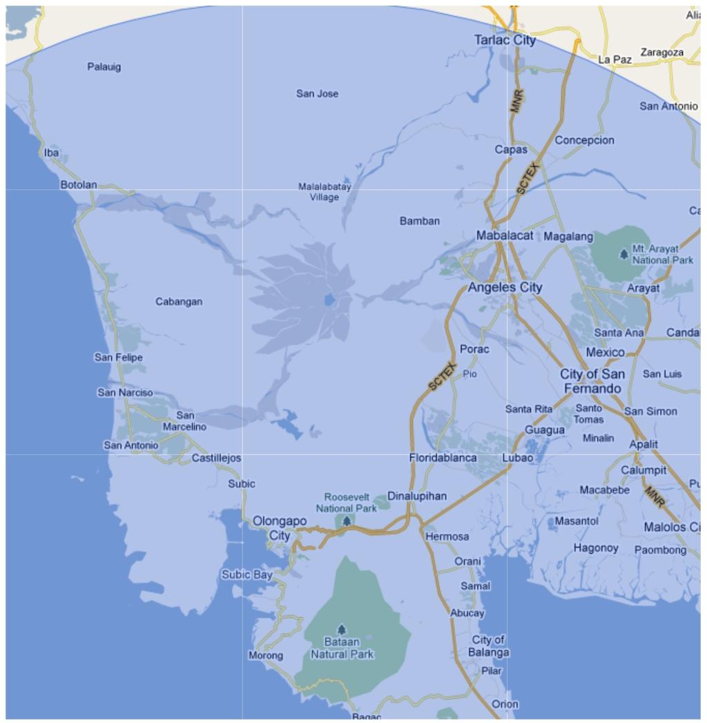 100-km zone around the BNPP